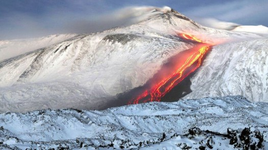 Volcano erupts in European ski resort