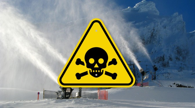 High concentrations of di-hydrogen monoxide found in man-made snow: EPA reveals